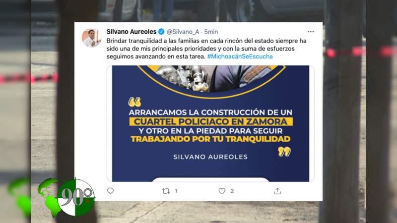 Silvano Aureoles presume llevar tranquilidad a Michoacán, las cifras dicen todo lo contrario