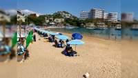 A pesar de la pandemia, turistas abarrotan playas de México tras puente vacacional