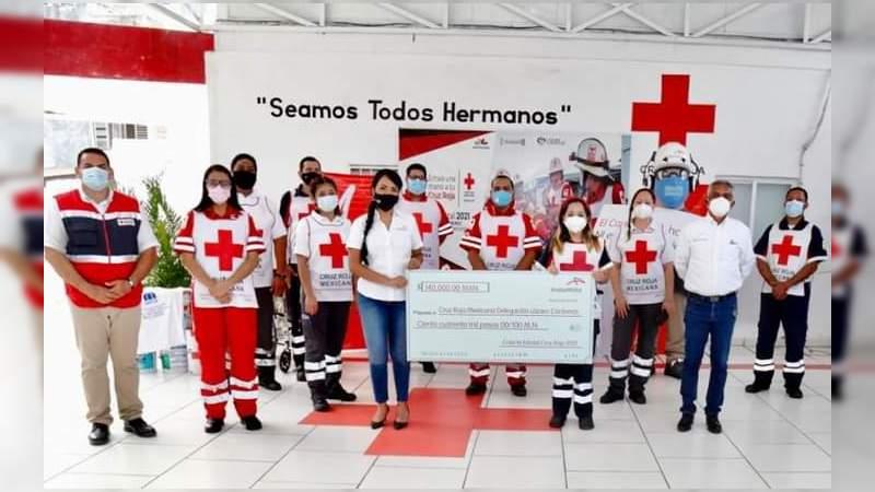 Entrega ArcelorMittal donativo a Cruz Roja de Lázaro Cárdenas, Michoacán