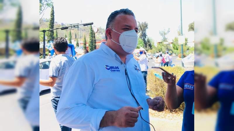 Señalo Carlos Quintana, la aceptación de la gente es buena, pero les preocupa la salud, economía y medio ambiente
