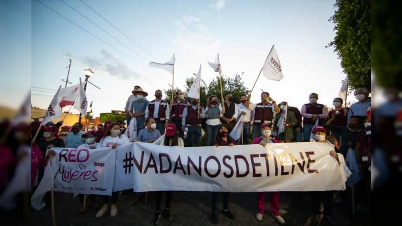 Cientos de michoacanos y michoacanas se suma a Caravana en Defensa de la Esperanza en Maravatío