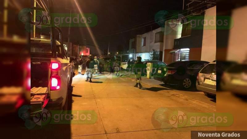 Perece hombre que fue baleado anoche en Valle Real, en Uruapan