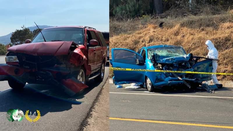Se registra aparatoso accidente en la Morelia-Uruapan, hay tres muertos