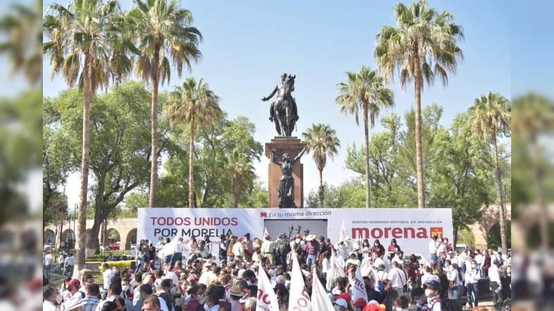 Iván Pérez Negrón arranca campaña rumbo a la alcaldía arropado por Morena