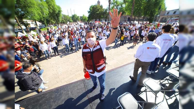 Voy a trabajar para defender la esperanza en Michoacán y afianzar la 4T: Juan Carlos Barragán