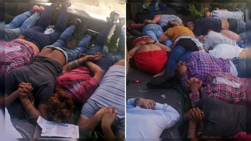 Revientan campamento criminal en pleno Guadalajara: Hay 33 detenidos y 4 civiles muertos