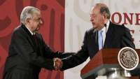 """AMLO: """"Carlos Slim seguirá invirtiendo porque cree en México"""""""