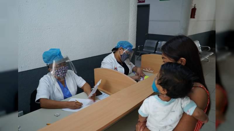 Invita SSM a vacunar a niños de 1 a 4 años contra sarampión y rubeola