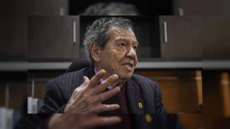 Convoca Muñoz Ledo a crear un frente que defienda tanto a organismos autónomos como a la Suprema Corte