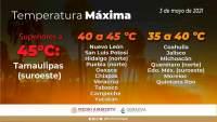Persiste calor extremo, se rebasarán los 40 grados en zonas de Tierra Caliente y Costa de Michoacán
