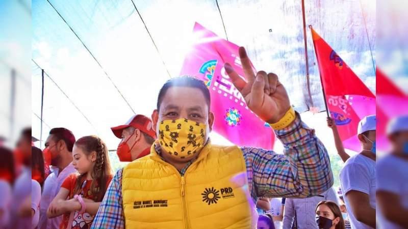 Michoacán será sede del Encuentro Nacional por la Democracia: Víctor Manríquez