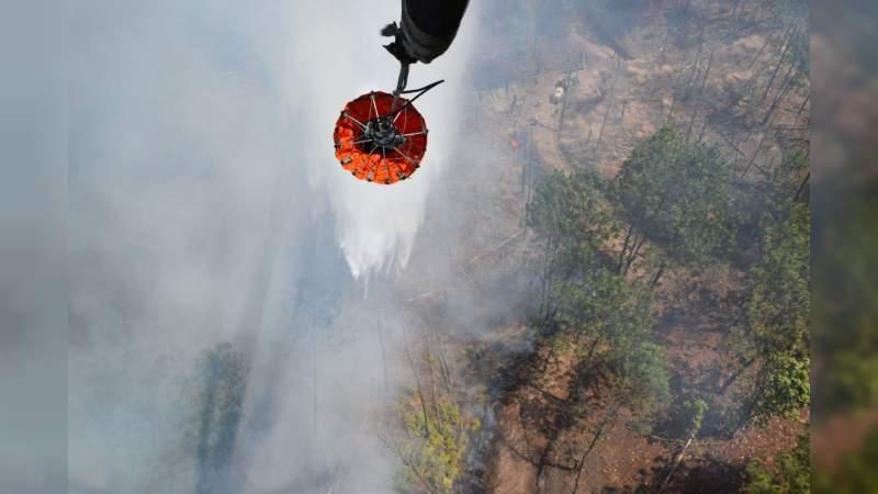 El incendio en el cerro de San Marcos, en Uruapan, se encuentra controlado y en fase de liquidación