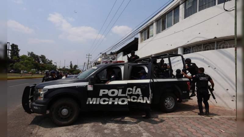 Grupo armado ataca comandancia de la Policía en Cuitzeo