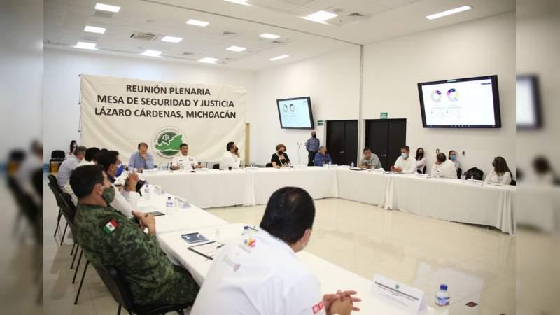 Participa Fiscalía General en Mesas de Seguridad en Lázaro Cárdenas