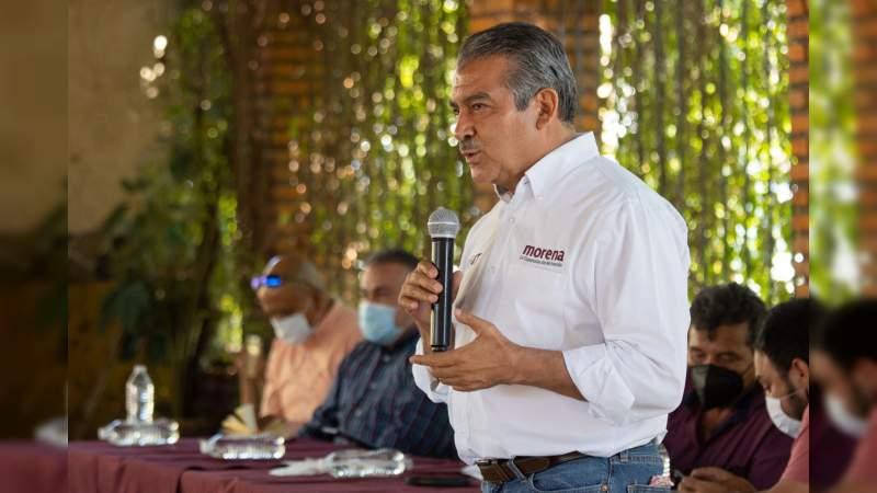 """""""Nos vamos a partir el alma, para que la 4T llegue a Michoacán"""": Raúl Morón"""