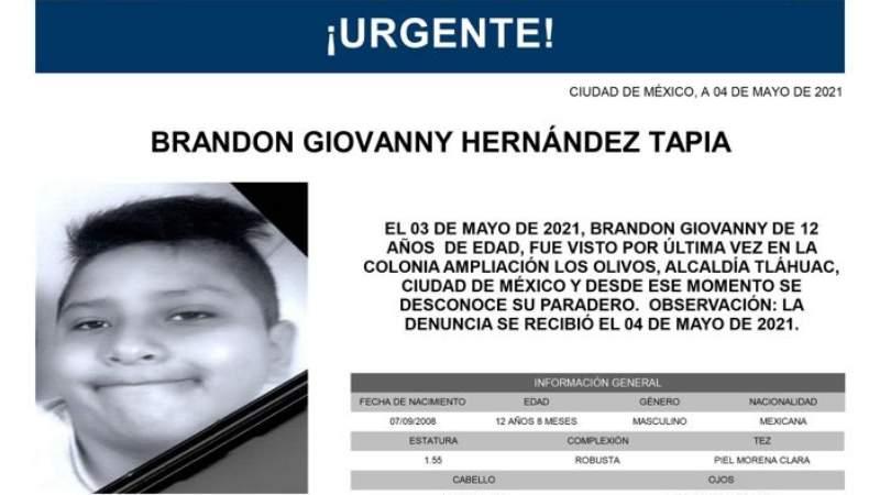 Encuentran sin vida a Brandon Giovanni, hijo al que su mamá buscaba desesperadamente