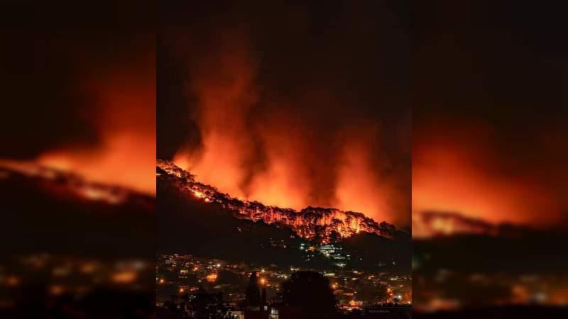 #MéxicoEstáEnLlamas: Reclaman en redes ayuda para combatir incendios forestales en Uruapan y San Luis Potosí