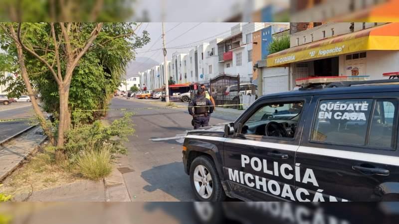 """""""Motosicario"""" balea en Zamora, Michoacán a un individuo, muere al llegar al hospital"""