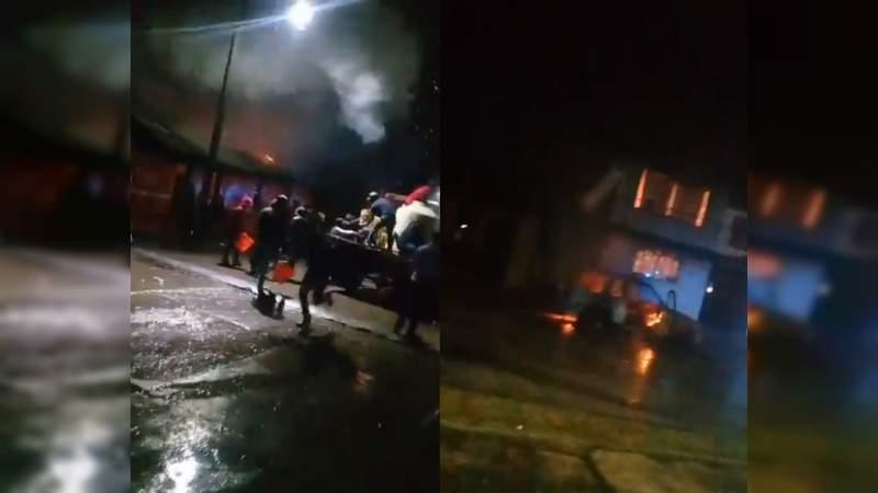 Por no pagar cuota, Los Correa queman casas de taquero y vendedora de tortas en el Oriente de Michoacán