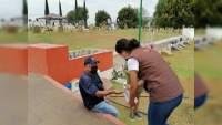 Protección Civil refuerza medidas sanitarias contra Covid-19 en panteones de Morelia, Michoacán