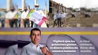 Silvano Aureoles supervisa obra de 20 millones en Huetamo, municipio por el que su hermano quiere ser diputado