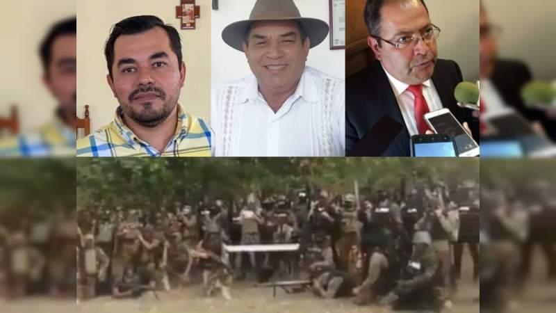 Virtuales Alcaldes de Aquila, Coahuayana e Hidalgo, bajo abierta amenaza del CJNG