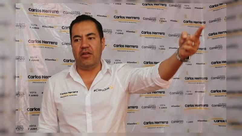 Carlos Herrera anuncia que desconocerá resultados del PREP que le dan la victoria a Morena en Michoacán