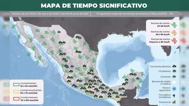 PC pide extremar precauciones, ante llegada de Tormenta Tropical a Michoacán