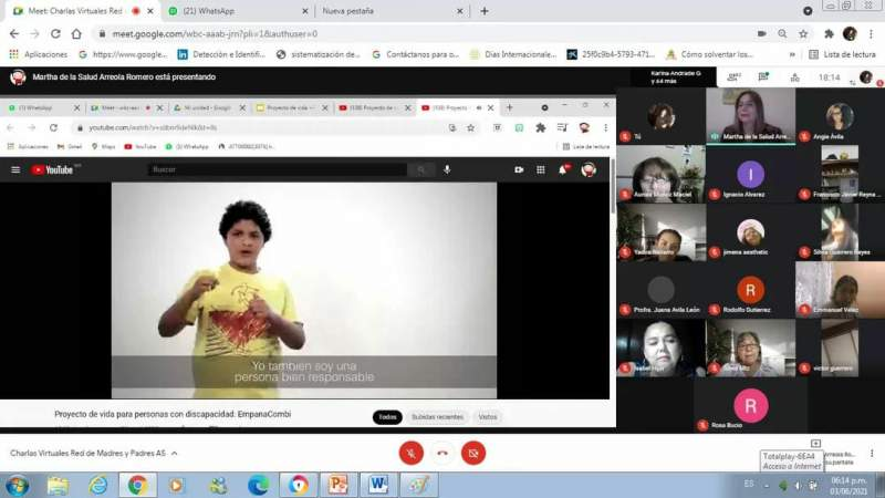 """SEE realiza conferencia virtual """"Proyecto de vida"""" para personas con discapacidad"""