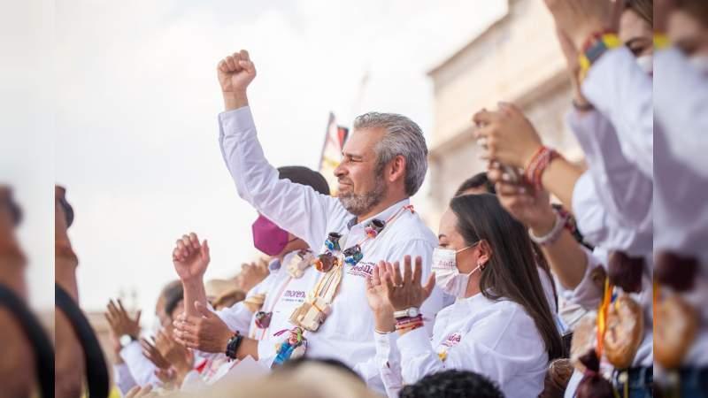 Bedolla recupera más de 10 mil votos a favor en elección de gobernador