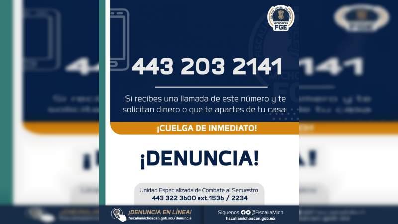 Localizan a estudiante víctima de extorsión virtual en Morelia, Michoacán