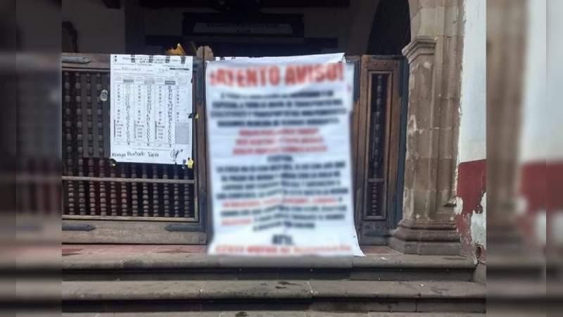 """Nuevo cártel en Michoacán: Con narcomantas en Pátzcuaro se anuncia conformación de """"Gente Nueva de Michoacán y Guerrero"""""""