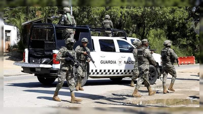 Detiene la GN a seis presuntos delincuentes en Ixtlán, Michoacán