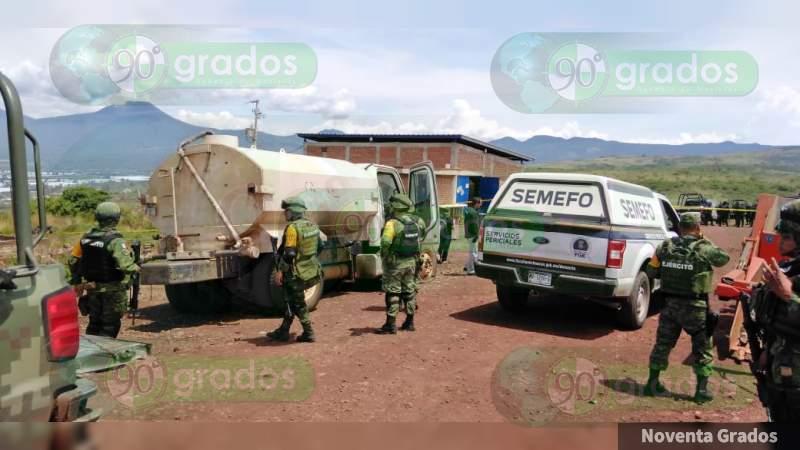Deja 1 muerto el enfrentamiento en Tangancícuaro, Michoacán