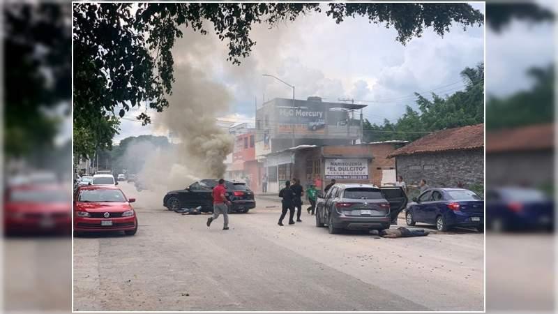 6 muertos en balacera en Tuxtla Gutiérrez, Chiapas; CJNG asesina a hijo de capo de Sinaloa
