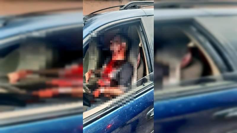 Atacan a balazos a un hombre a bordo de su camioneta en Jacona, Michoacán; esta grave