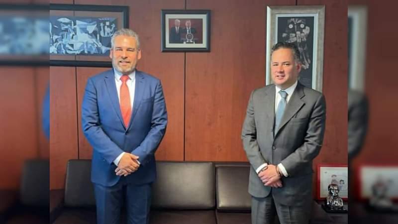 Alfredo Ramírez se reúne con el titular de la Unidad de Inteligencia Financiera