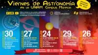 """UNAM Morelia invita a """"Viernes de Astronomía 2021"""""""