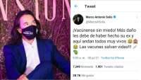 Marco Antonio Solis invita a la ciudadanía a vacunarse contra COVID-19