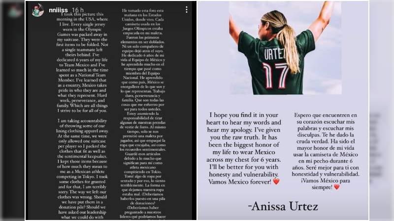 Anissa Urtez acepta haber tirado su uniforme de México, y renuncia a la selección de sóftbol