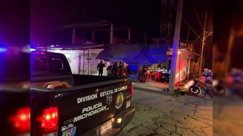 Matan a hombre en negocio de maquinitas de Uruapan, Michoacán