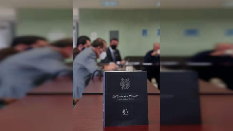 Presenta rector de la UMSNH, informe 2020 ante la Comisión de Rectoría