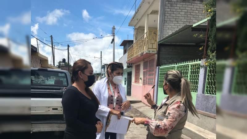Realizan trabajos de sanitización y fumigación en Cuamio, municipio de Cuitzeo, Michoacán