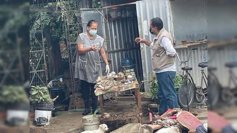 Atienden afectaciones por lluvias en Arteaga, Michoacán