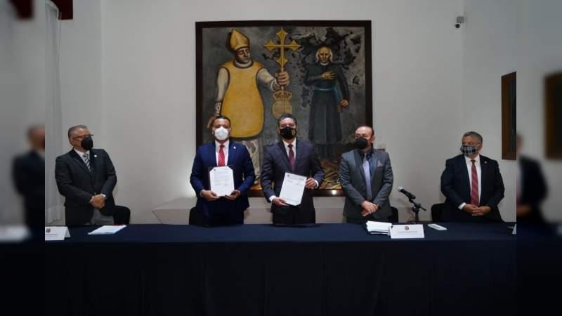 Firma UMSNH y Colegio de Contadores Públicos de Michoacán convenio de colaboración