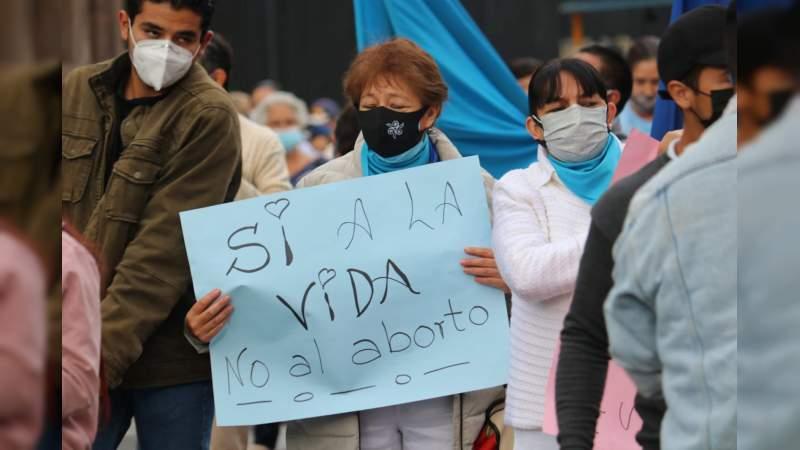 PROVIDA se hace presente en Morelia, tras la despenalización del aborto por la SCJN