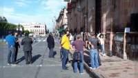 Profesores se manifiestan en Palacio de Gobierno