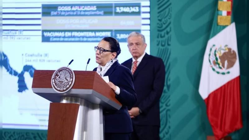 México abrirá la frontera con Estados Unidos; municipios fronterizos vacunados: SSPC