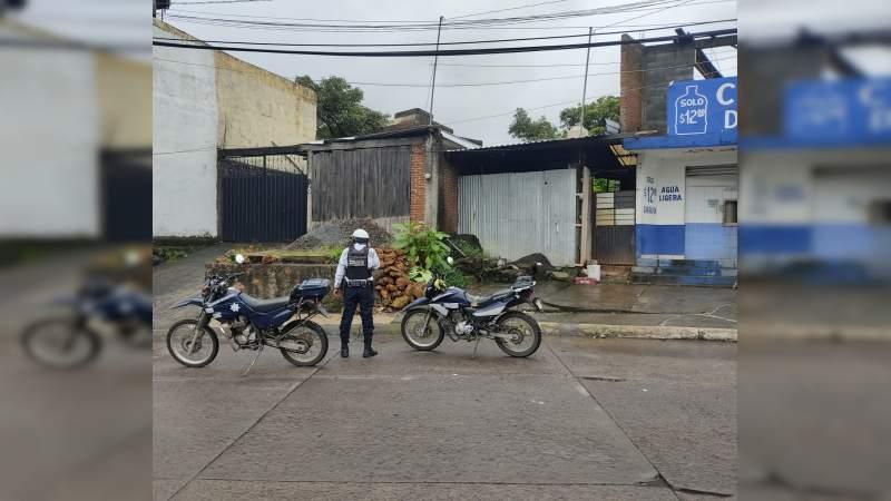 Favorable, participación en operativo para el retiro de vehículos chatarra, en Uruapan