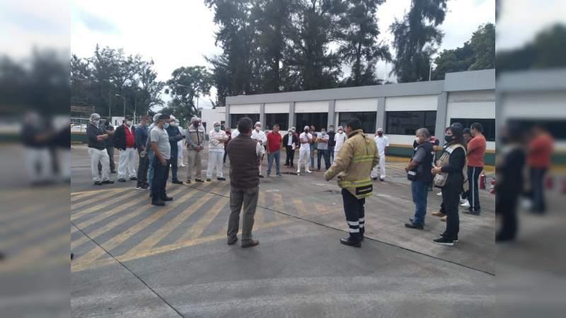 Con éxito, realiza PC simulacro sísmico en Michoacán